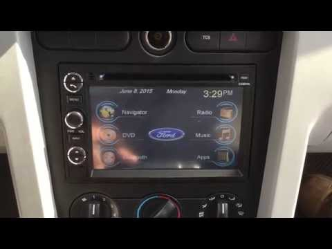 2006 Ford Mustang Factory style windows based radio with navigation and bluetooth