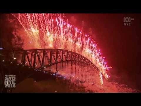 Sydney New Year Eve 2016-2017 Midnight Fireworks