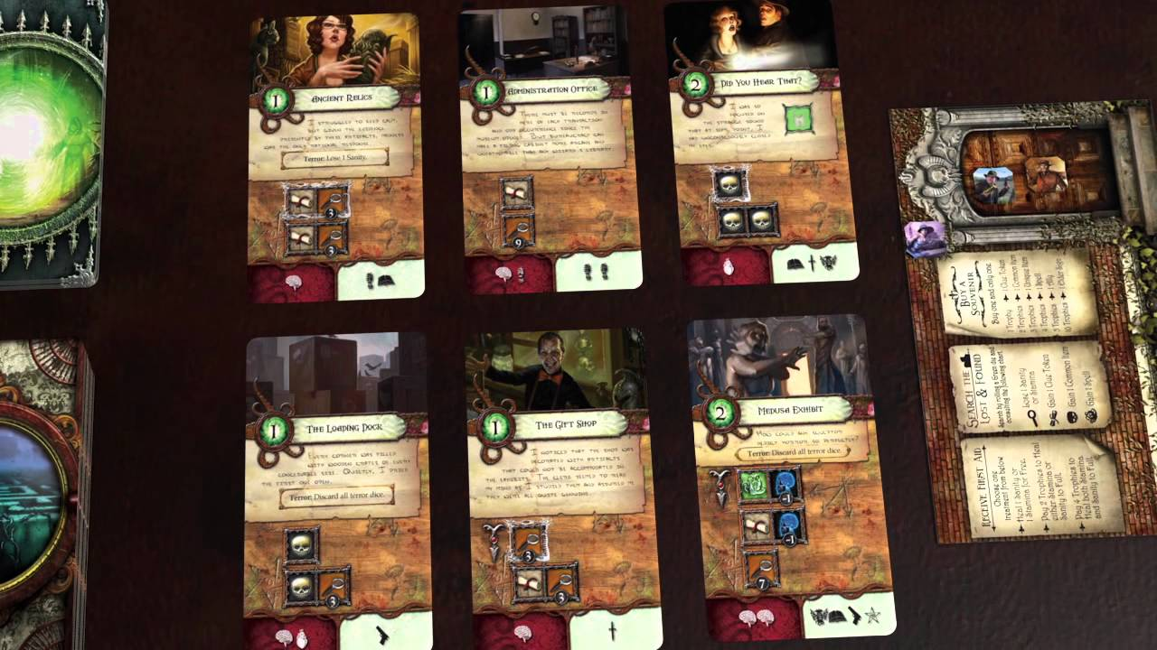 Elder Sign Character Stands with Die Holder Arkham Cthulhu Set of 4