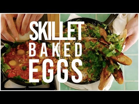 Skillet baked eggs: a simple breakfast to impress