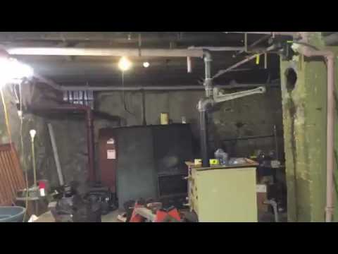 Weil McLain steam boiler removal and setup. - YouTube