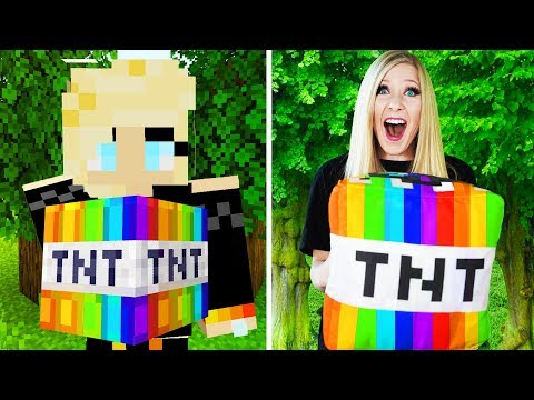 LIVING Like my MINECRAFT Character For 24 HOURS! - Challenge