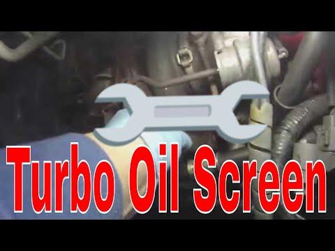 Service update Turbo oil feed line banjo bolt screen clean Subaru WRX STi 2004 SVTWRC
