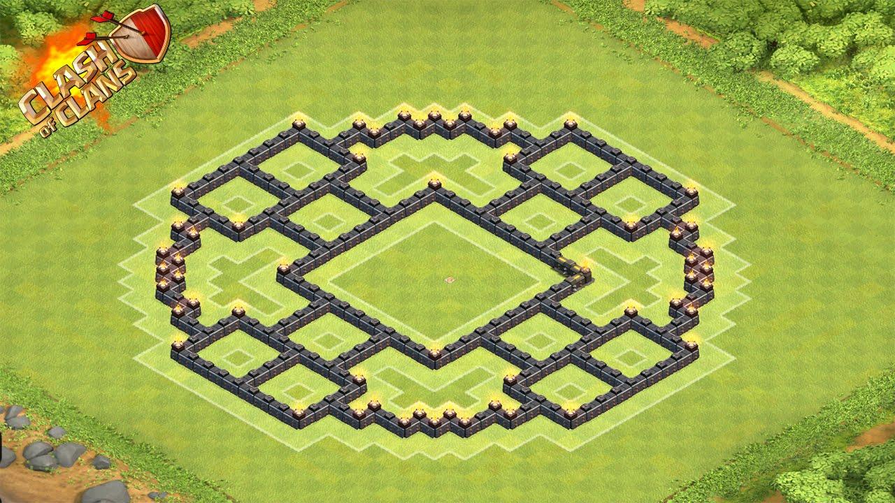 Clash of clans th8 hybrid base town hall 8 defence anti dragon anti