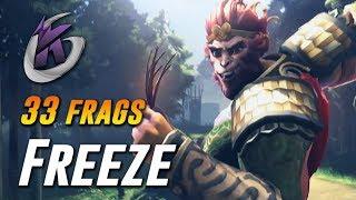 Freeze Monkey King 33 FRAGS Domination - Dota 2 Pro Gameplay