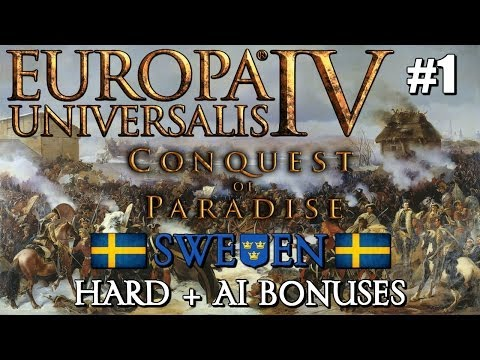 """Europa Universalis IV - Sweden - Conquest of Paradise Let's Play - #1 """"The Kalmar Union must end!"""""""