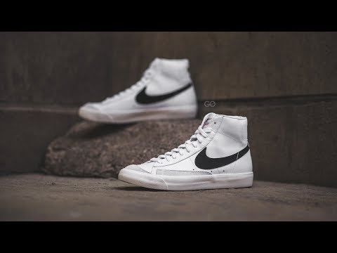 "nike-blazer-mid-'77-vintage-""white-/-black"":-review-&-on-feet"