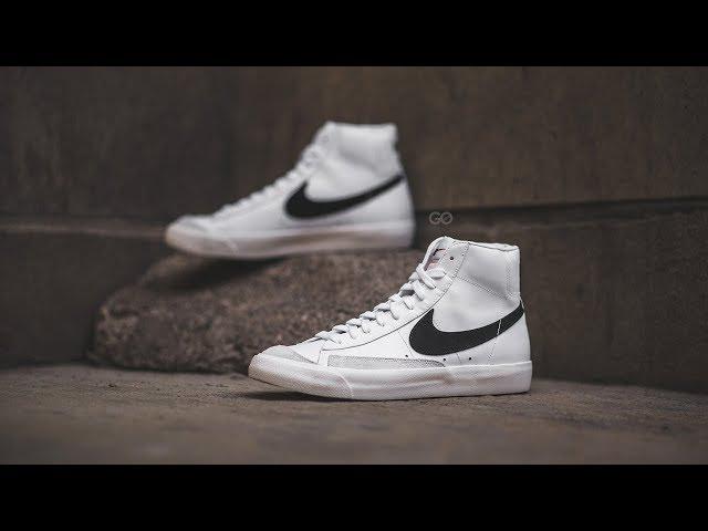 "c2834bd33f2 Nike Blazer Mid  77 Vintage ""White   Black"" Review – Sean Go"