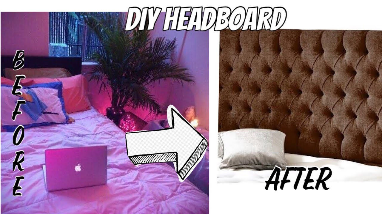 ROOM MAKE OVER DIY HEADBOARD (aesthetic feels, buget ...