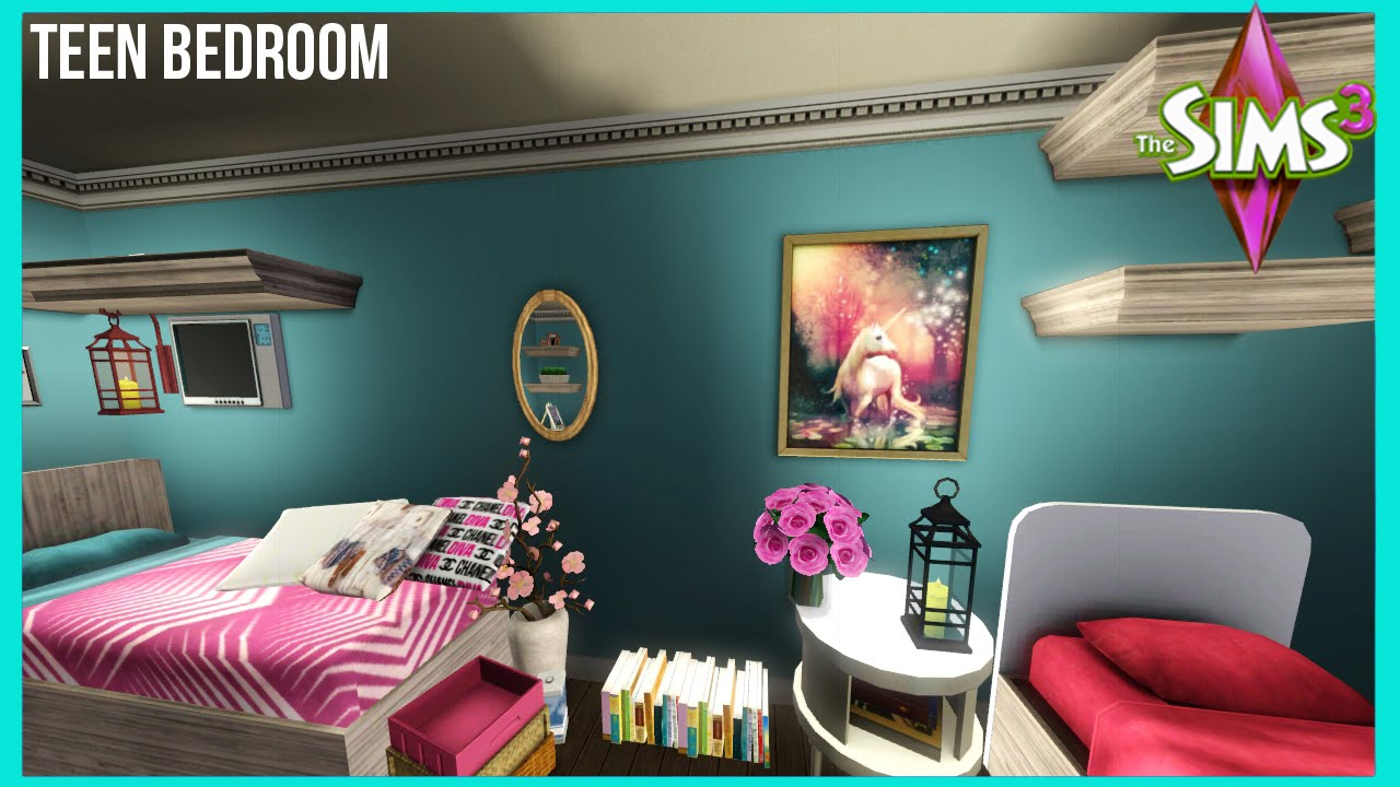 Bedroom Designs Sims 3 the sims 3 | big teen girl bedroom - youtube