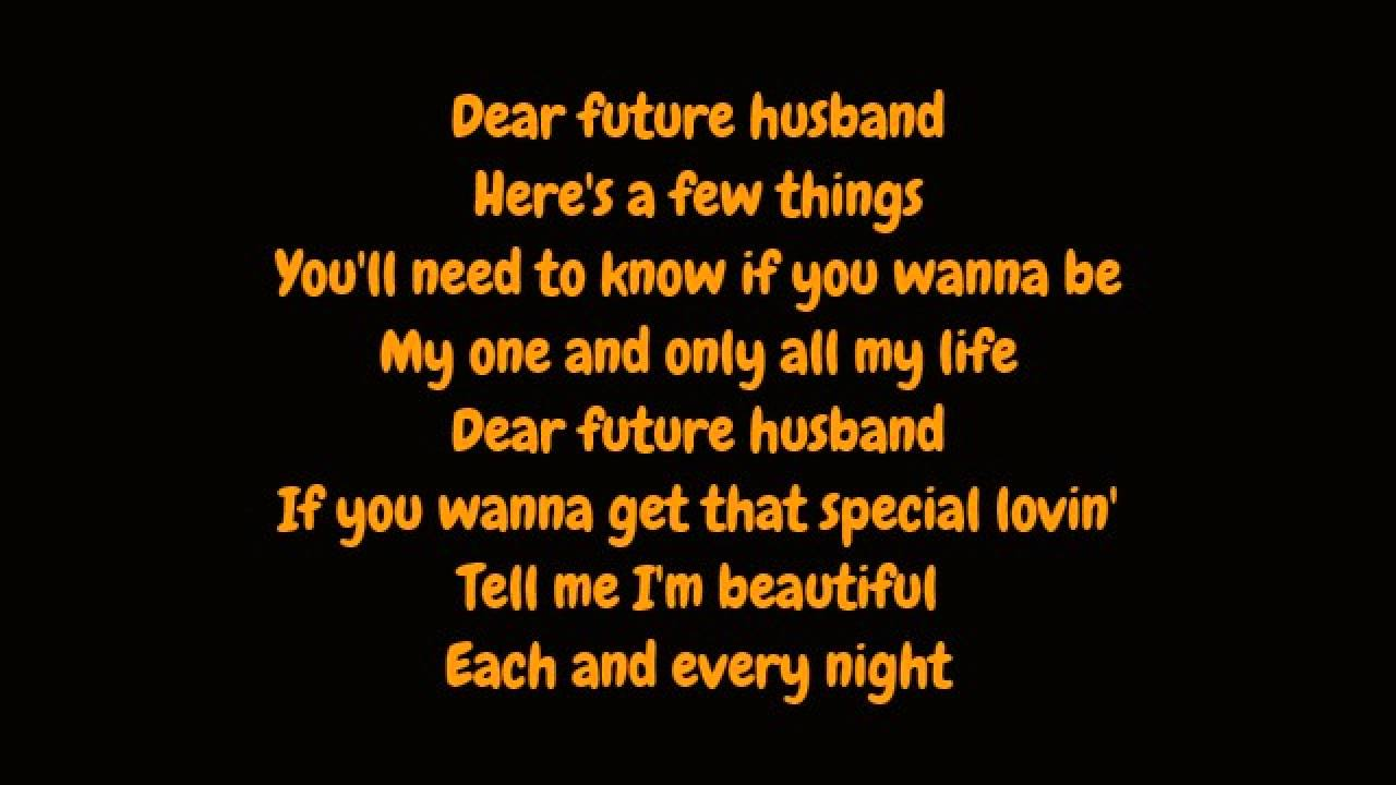 Meghan Trainor Dear Future Husband Lyrics Hd Youtube