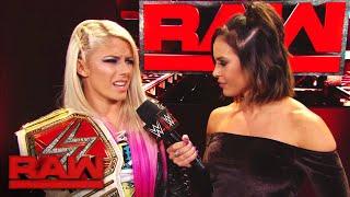 Alexa Bliss vows to run circles around Natalya at Survivor Series: Raw, Nov. 6, 2017