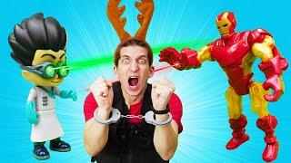 Железный Человек и Супергерои против Ромео! – Игры для мальчиков. Смешное видео шоу Фабрика Героев.