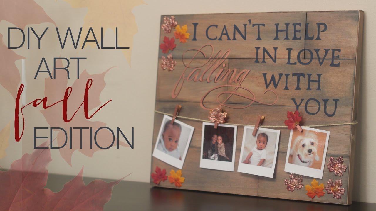 Fall Wall Decor diy fall wall decor - youtube
