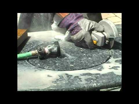 Cut/polish undermount sinks on granite