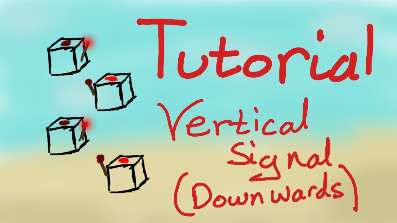 redstone tutorial vertical wire down youtube rh youtube com redstone downward wiring Redstone Lamp