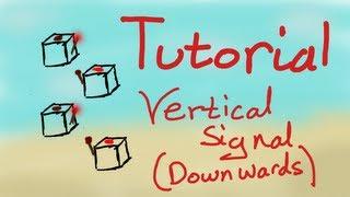 Redstone Tutorial | Vertical Wire (DOWN)