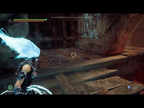 Darksiders 3 - Demon's Peak - Blocks on Roller - The Crock Boss- Walkthrough Part 25