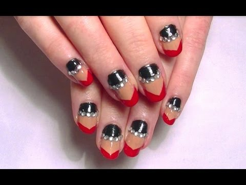 lady gaga claw nail art tutorial how to apply rhinestones lady gaga claw nail art tutorial how to apply rhinestones to nails youtube prinsesfo Image collections