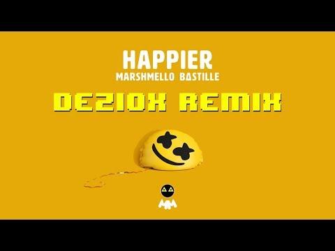 Marshmello ft. Bastille - Happier (DeZiox Remix) (Lyric Video)