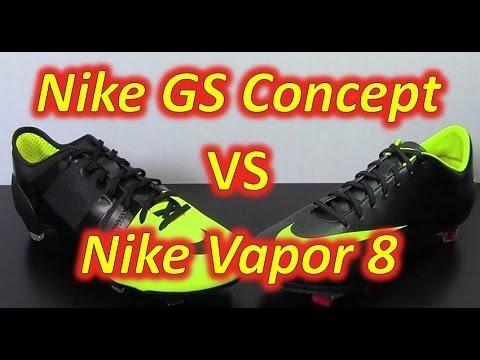 83bcff1f220 Nike GS (Green Speed) VS Nike Mercurial Vapor VIII - Comparison - YouTube