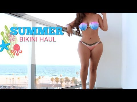 Beach Condo Bikini Try On l MISSSPERU