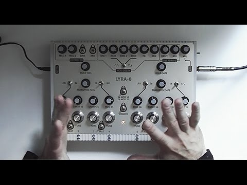 LYRA-8 organismic synthesizer (Demo with English subtitles)