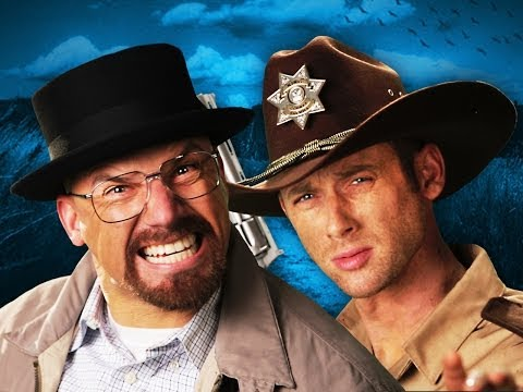 Видео: Rick Grimes vs Walter White.  Epic Rap Battles of History Season 3