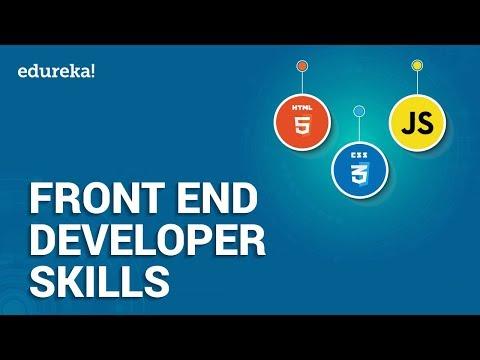 Top 10 Front End Developer Skills | How To Become A Front End Developer? Edureka