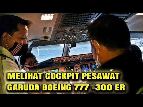 Melihat Cockpit Pesawat Garuda Boeing 777 300er Di Bandara YIA