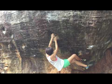 Pleasure and pain, V6. Pleasure Dome Boulder, Lower Meadows, Khon Kaen