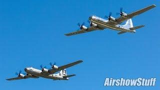 Bomber Parade! B-2/B-1/B-52/B-29/B-17/B-25 Formation Flybys - EAA AirVenture Oshkosh 2017