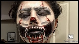 """IT"" inspired Halloween look w/ drugstore face paint// Blu"