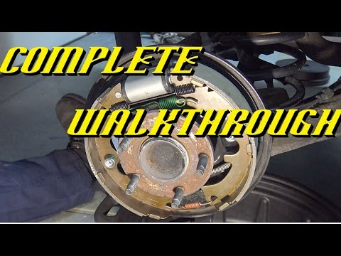 2008-2012 Ford Escape Rear Drum Brakes Replacement
