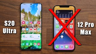 5 Reasons Why The Galaxy S20 Ultra DESTROYS the iPhone 12 Pro Max