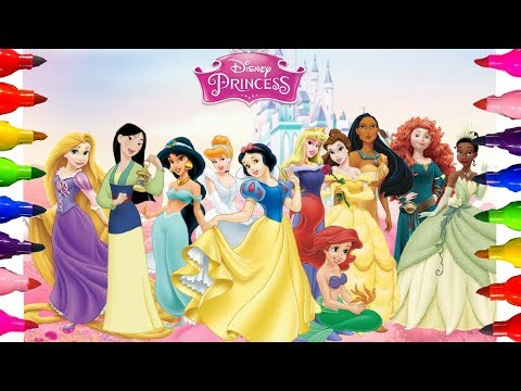 disney-princesses-cinderella|-ariel-the-mermaid-|aurora-sleeping-beauty-coloring-pages-for-kids-art