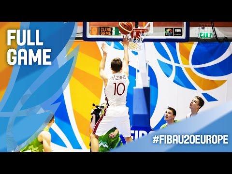 Latvia v Slovenia - Full Game - FIBA U20 European Championship 2016