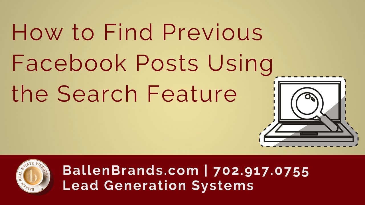 How to Find Previous Facebook Posts Using the Search Feature