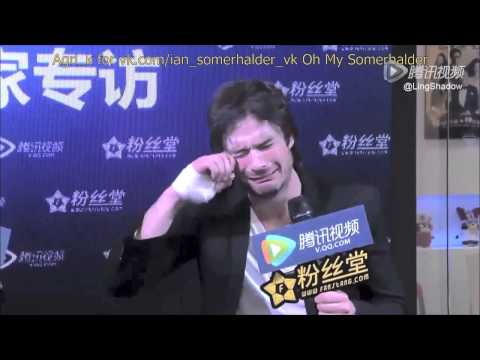 Ian Somerhalder Shanghai interview part 2 Rus Sub