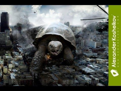 3d City Live Wallpaper Speed Art Turtle Under Attack Adobe Photoshop Cs5
