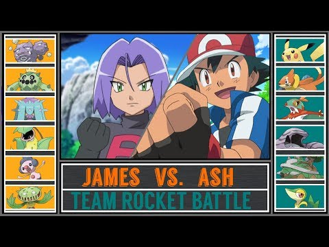Ash Vs. James (Pokémon Sun/Moon) - Team Rocket Battle