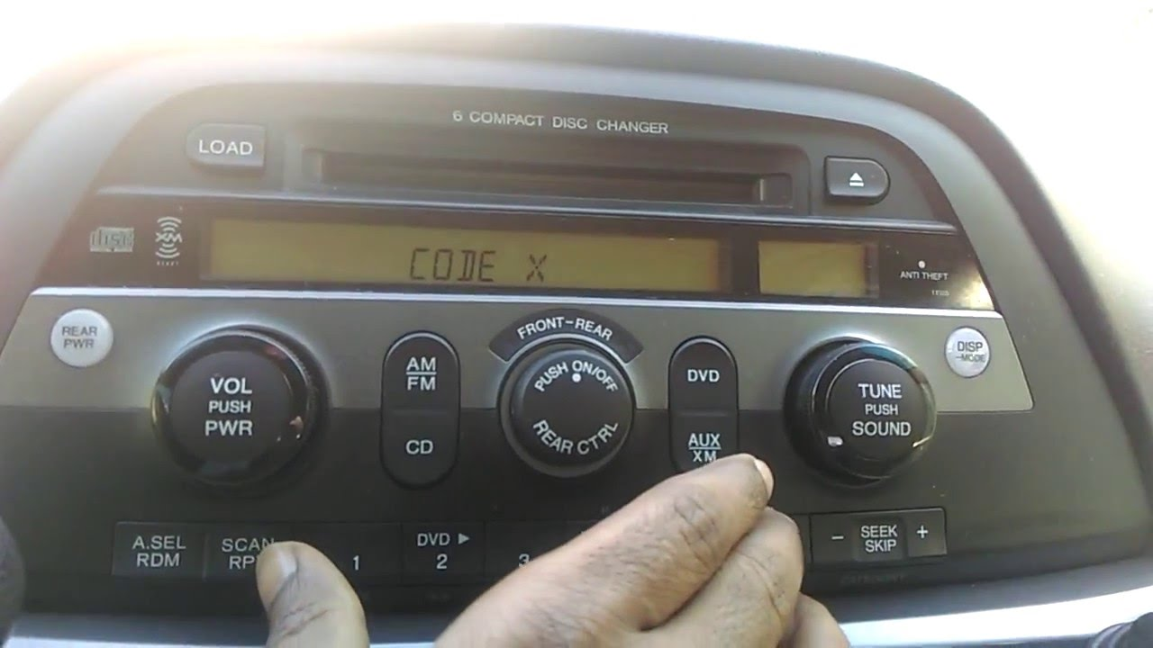 Honda Odyssey 2005 Radio Code Reset How To