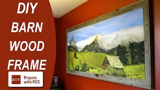 How to frame a Canvas | Framing a Canvas