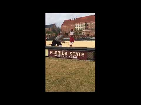 FSU Wide Receiver Sand Workout Session