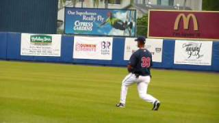 Franklin Gutierrez & Casey Blake (former Cleveland Indians players) warm up moves to funny music