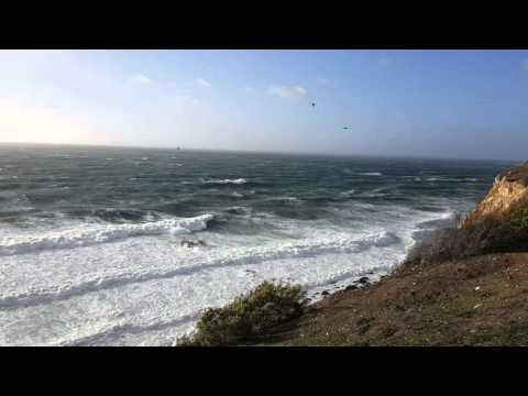 EXTREME EL NIÑO WINDSTORM & EPIC WAVES!  Palos Verdes, Point Vicente, California