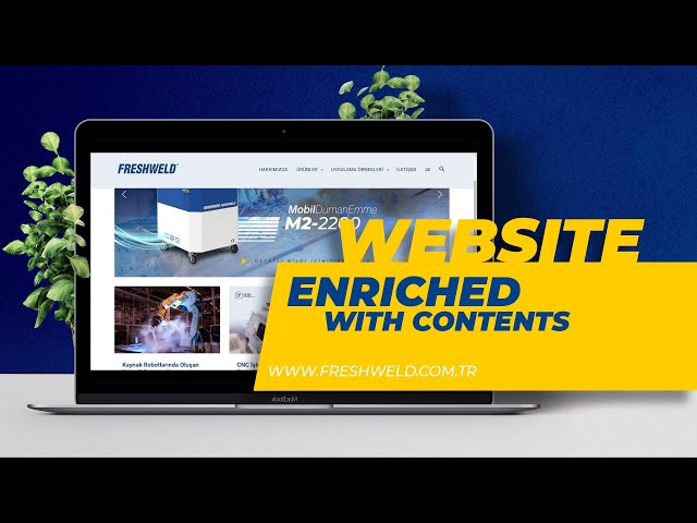 Fume Extraction website Enriched with Visually Contents. Duman Emme Sistemleri İnternet Sitesi