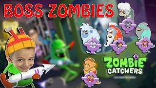 Все Боссы Zombie Catchers Прикольный игровой мультик про зомби Веселое видео для детей