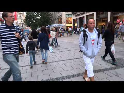 Walking through Munich, Germany
