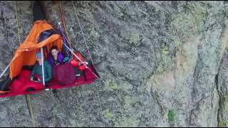 Cliff camping in Estes Park, Colorado with KMAC